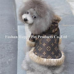 luxury cony fur warmly dog clothing