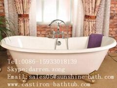 Cast Iron Double Slipper Bathtub