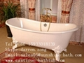 Cast Iron Double Slipper Tub with