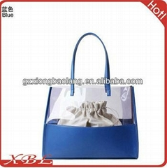 Candy color transparent jelly silicone bag 2013