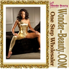 2013 Sexy Lingerie Gold Digger Kitten Catsuit