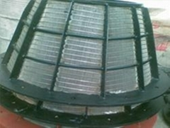 Continuous slot screen baskets