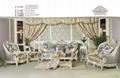 antique European genuine leather living room sofa furniture set 1