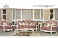 antique European genuine leather living room sofa furniture set 4