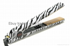 Hot flat ceramic hair straightener in USA Zebra White
