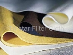 Needle felt filter cloth