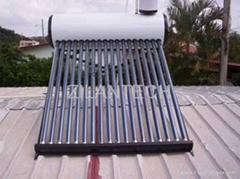 Coated steel solar water heater