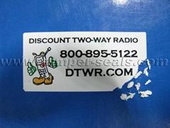 Ultra Destructible Vinyl Labels and