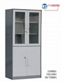 glass door KD metal filing cabinet / locker 1
