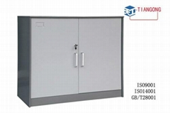 mini type glass door metal KD filing  cabinet