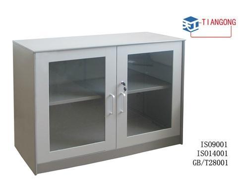 mini glass door 2 layers cabinet 1