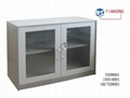 mini glass door 2 layers cabinet