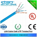 network cat6 utp lan cable 23awg 4pairs pure copper cca pvc1000ft