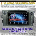 "New Arrival+Free Shipping +8"" Toyota COROLLA Car DVD with GPS + Can-Bus + 512M R"