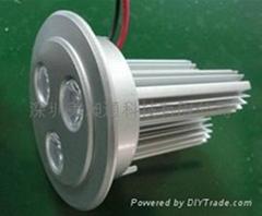 LED独立柱天花灯3W
