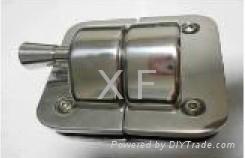 stainless steel glass latch glass door lock 1