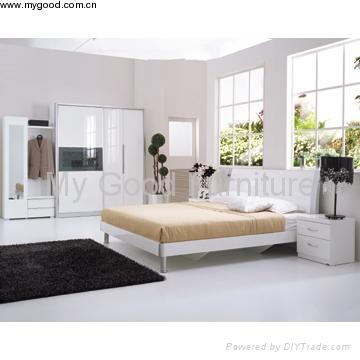 Furniture High Gloss Furniture Modern Bedroom Furniture Bedroom Set 1