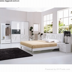 Furniture High Gloss Furniture Modern Bedroom Furniture Bedroom Set