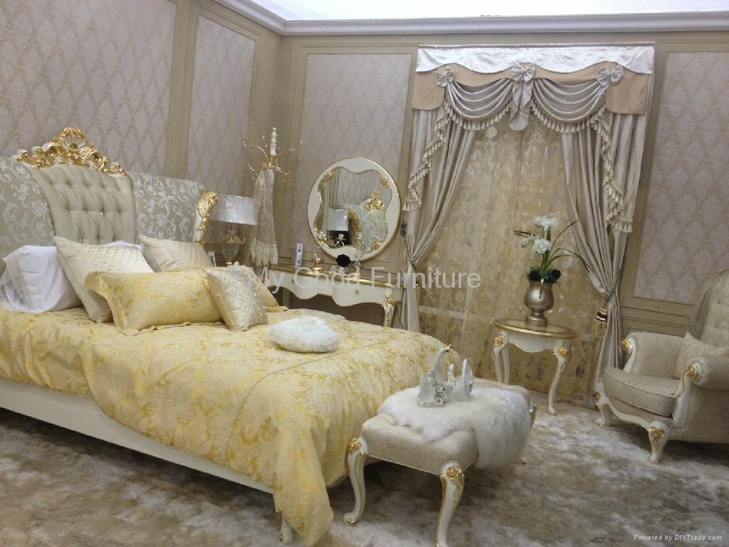 New Style Furniture solid furniture, new style bedroom suite , double bed