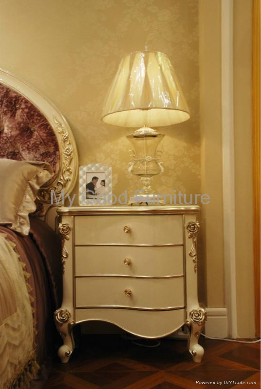 solid Furniture, new style bedroom suite , double bed 2