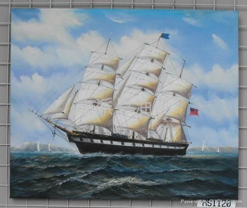 帆船油畫 1