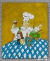 廚師油畫 1