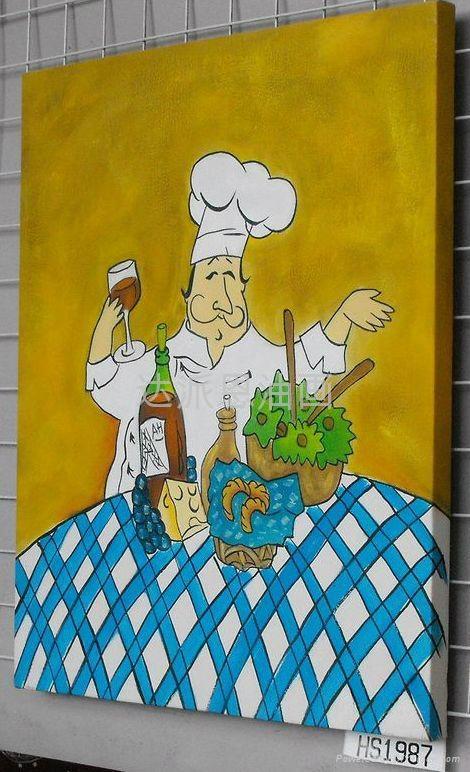 廚師油畫 2