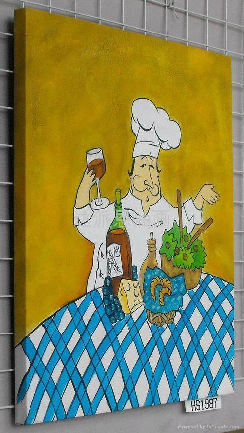 廚師油畫 3