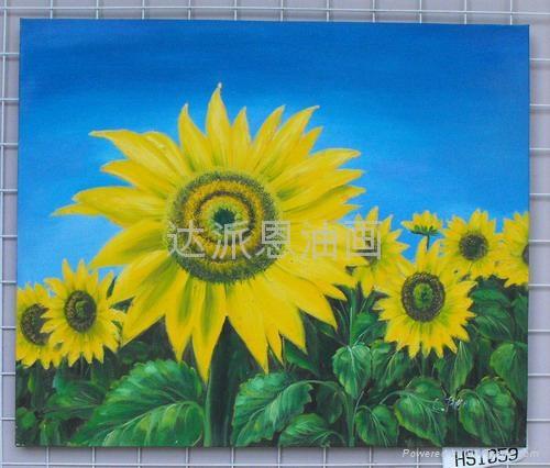向日葵油畫 1