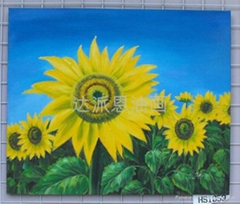 oil paingtings sunflower