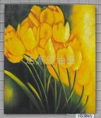郁金香油画