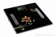 ELECTRONIC PERSONAL BATHROOM  SCALE WITH LCD SCREEN