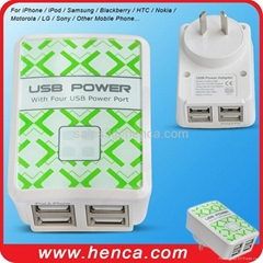 4USB power adapter for mobile phone