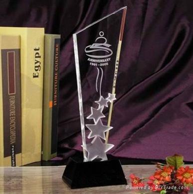Crystal  Plaque Trophy  1