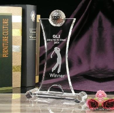 Glass Trophy Awards Plaque 1