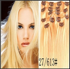 best quality HUMAN VIRGIN REMY Clip in hair extensions