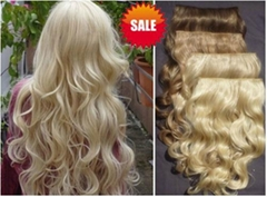 Curly hair extension clip in at factory price