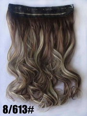 100% human remy hair clip in hair extension