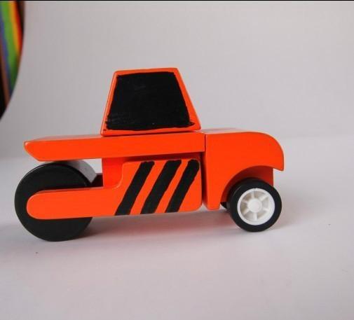 Road roller car wooden children toys gifts 1