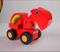 Road roller car wooden children toys gifts 2