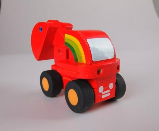Road roller car wooden children toys gifts 3