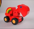 Road roller car wooden children toys gifts 4