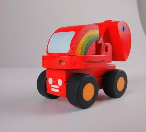 Color toy car wooden children toys gifts 3