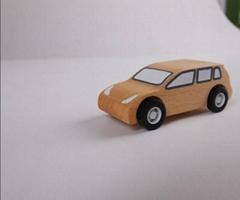 pull-back motor(Business car)wooden children toys