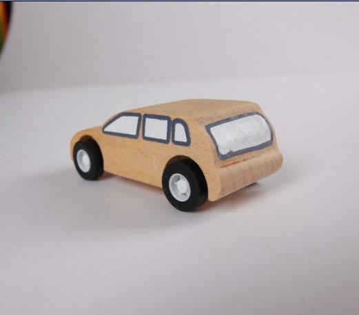 pull-back motor(Business car)wooden children toys 3
