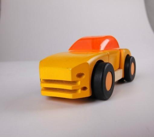 pull-back motor(Business car)wooden children toys 5