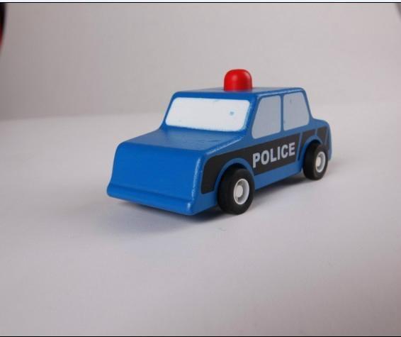 pull-back motor(police car) model cars wooden children toys 1