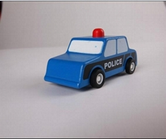 pull-back motor(police car) model cars wooden children toys
