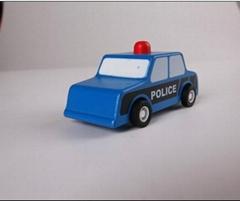 pull-back motor(police car) model cars wooden children toys
