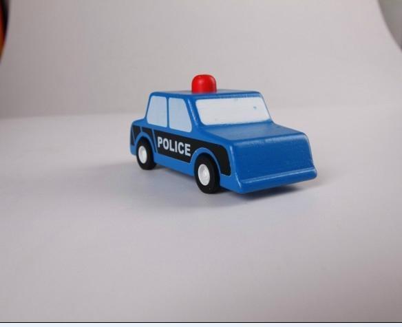 pull-back motor(police car) model cars wooden children toys 2